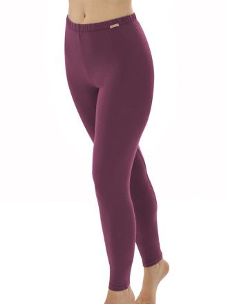 Comazo Biowäsche, Leggings für Damen in brombeer - Vorderansicht