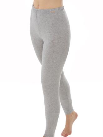 Comazo Biowäsche, Leggings für Damen in grau-melange - Vorderansicht