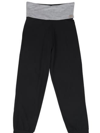 Comazo Biowäsche Damen Hose lang in schwarz/Grau-melange