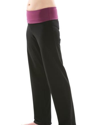 Comazo Biowäsche, Yogahose für Damen in schwarz - Vorderansicht