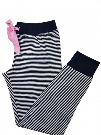 Comazo Nachtwäsche Damen Hose mit Bündchen navy
