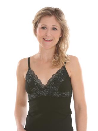 Comazo Biowäsche, BH-Hemd für Damen in schwarz