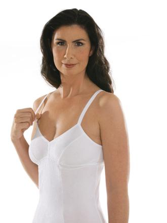 Comazo Unterwäsche, BH-Hemd für Damen in weiss - Vorderansicht