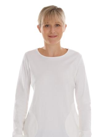 Comazo Biowäsche, Shirt langarm für Damen in offwhite - Vorderansicht