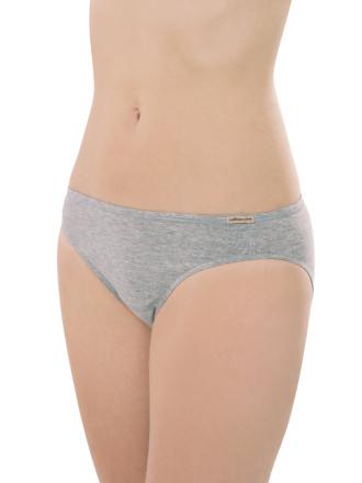 Comazo Biowäsche, Jazz-Pants für Damen in grau-melange - Vorderansicht