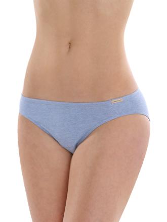 Comazo Biowäsche, Jazz-Pants für Damen in blau-melange
