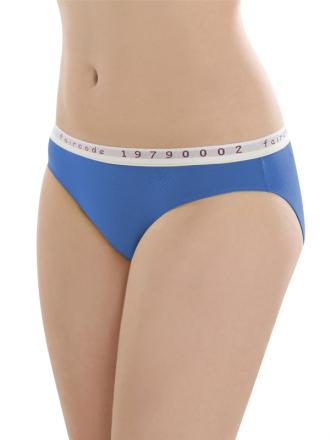 Comazo Biowäsche, Mini-Slip für Damen in blue - Vorderansicht
