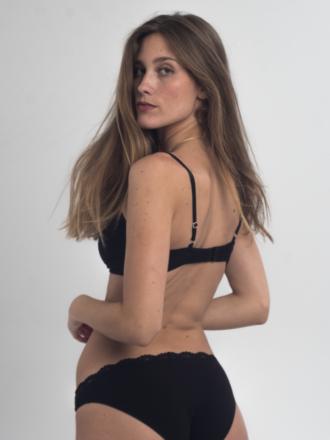 Comazo Lieblingswäsche Damen Biowäsche Mini-Slip in schwarz