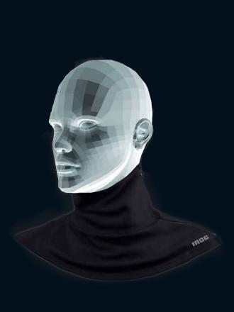 Comazo Funktionswäsche Halsschutz für Damen in schwarz
