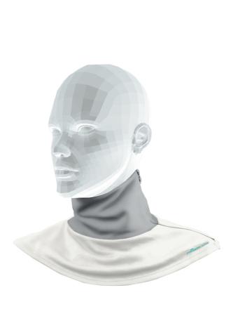 Comazo Funktionswäsche Halsschutz für Damen in silver/offwhite