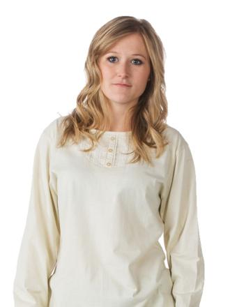 Comazo Nachtwäsche, Langarm Schlafanzug für Damen in denim - Vorderansicht