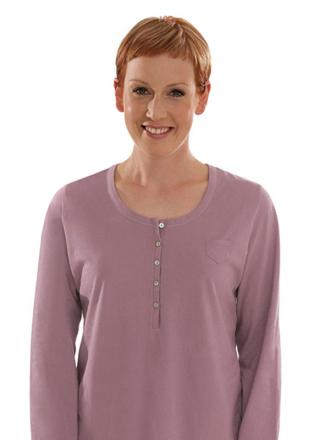 Comazo Biowäsche, Langarm Shirt für Damen in mauve - Vorderansicht