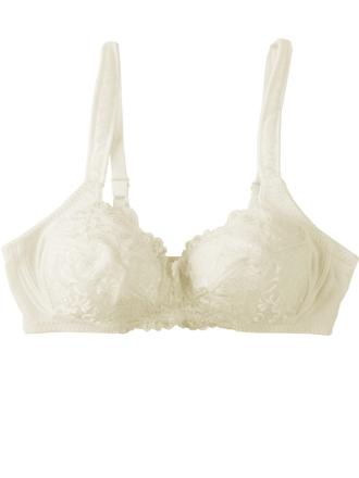 Comazo Unterwäsche, BH ohne Bügel für Damen in offwhite - Vorderansicht