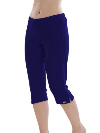 Comazo Biowäsche, Schlafhose für Damen in nachtblau - Vorderansicht