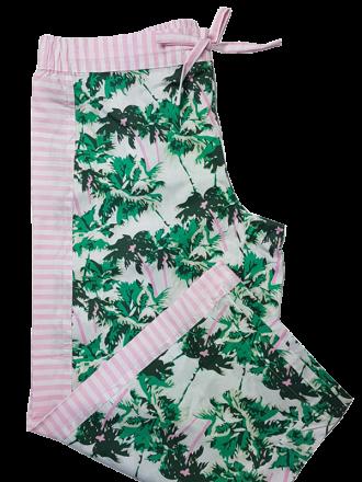 Comazo Unterwäsche Damen Nachtwäsche Hose 3/4 lang in hawaii