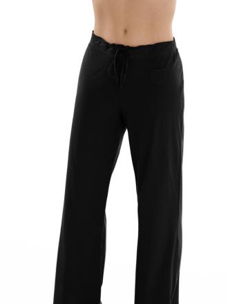 Comazo Biowäsche, Schlafhose für Damen in schwarz - Vorderansicht