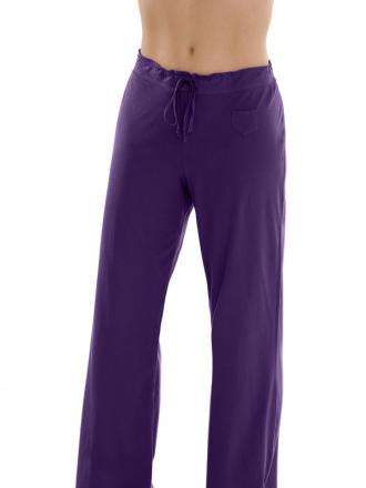 Comazo Biowäsche, Schlafhose für Damen in dark-violett - Vorderansicht