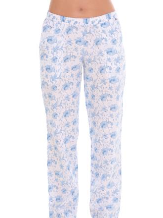 Comazo Lieblingswäsche, lange Hose für Damen in hellblau/navy