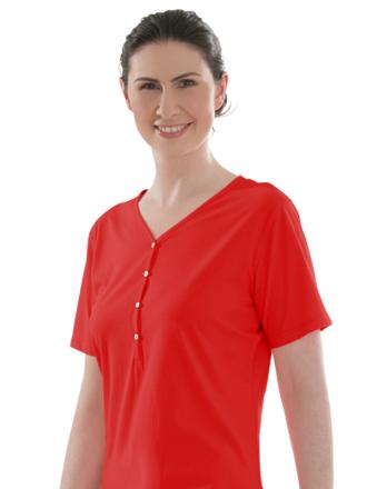 Comazo Biowäsche, Nachthemd für Damen in campari - Vorderansicht
