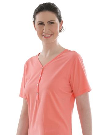 Comazo Biowäsche, Nachthemd für Damen in hummer - Vorderansicht
