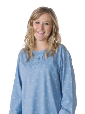 Comazo Nachtwäsche, Langarm Nachthemd für Damen in denim - Vorderansicht