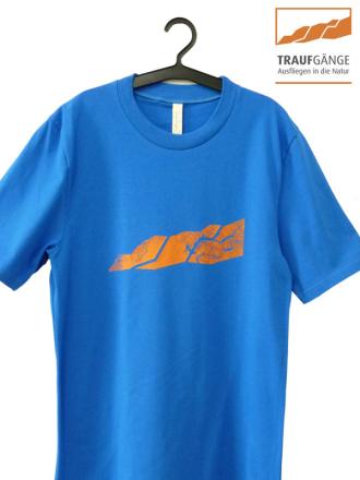 Comazo Biowäsche, Kurzarm Shirt für Herren in blau- Vorderansicht