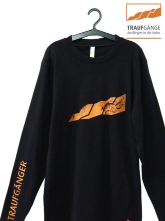 Comazo Biowäsche, Langarm Shirt für Herren in schwarz- Vorderansicht