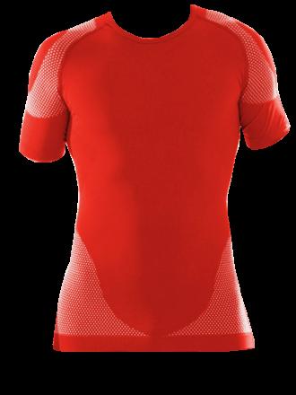 Funktionsshirt rot kurzarm Vorderseite
