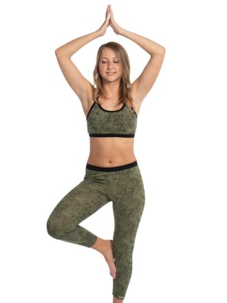 Comazo Biowäsche Yoga Damen 7/8 Hose in bedruckt