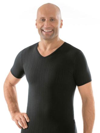 Comazo Unterwäsche, Shirt kurzarm schwarz - Vorderansicht