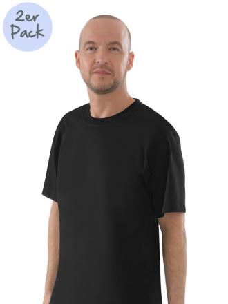 Comazo Lieblingswäsche Herren Shirts Rundhals in schwarz