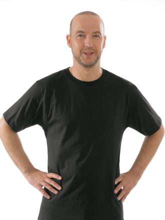 Comazo Unterwäsche, T-Shirt American Style in schwarz - Vorderansicht