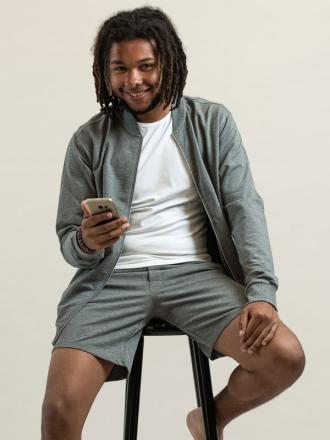 Comazo Lieblingswäsche Herren Homewear Shorts in grau-melange