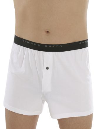 Comazo Biowäsche Fairtrade Boxer-Shorts in weiss - Vorderansicht
