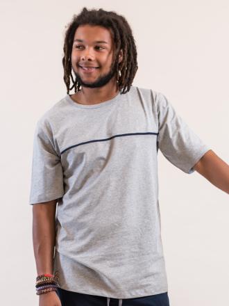 Comazo Lieblingswäsche Herren Nachtwäsche Shirt in grau-melange