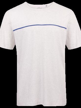 Comazo Lieblingswäsche Herren Nachtwäsche Shirt in hellgrau-melange