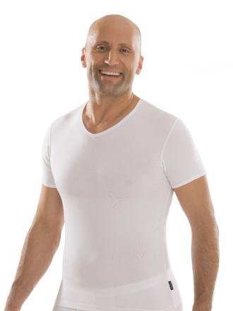 comazo|black Unterwäsche, Kurzarm Shirt in weiss - Vorderansicht