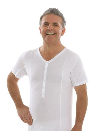 Comazo Biowäsche, Kurzarm Shirt in weiss - Vorderansicht
