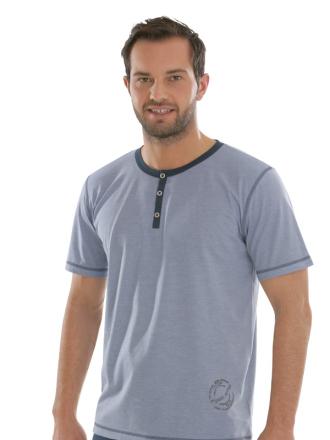 Comazo Biowäsche, Shirt in blau - Vorderseite