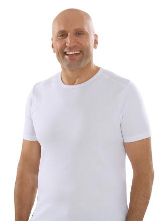 Comazo Lieblingswäsche, Basic Shirt für Herren kurzarm in Baumwolle in weiss