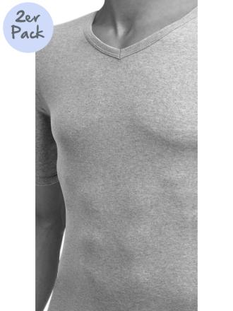 Comazo Lieblingswäsche, Shirt kurzarm für Herren in grau-melange