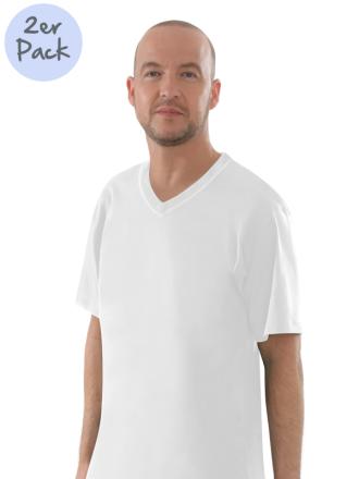 Comazo Lieblingswäsche Herren Shirts V-Ausschnitt in weiss