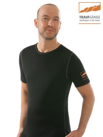 comazo|active Funktionswäsche, Kurzarm Funktionsshirt in schwarz - Vorderansicht
