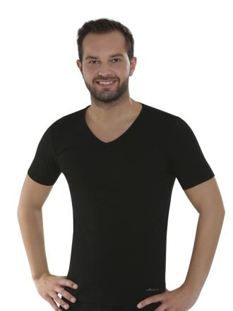 Comazo Biowäsche, Shirts für Herren in schwarz - Vorderansicht