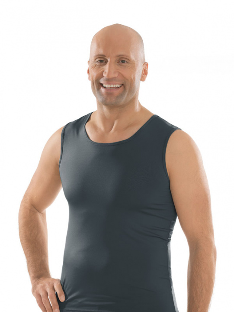 Comazo Unterwäsche, Shirt ohne Arm in anthrazit - Vorderansicht