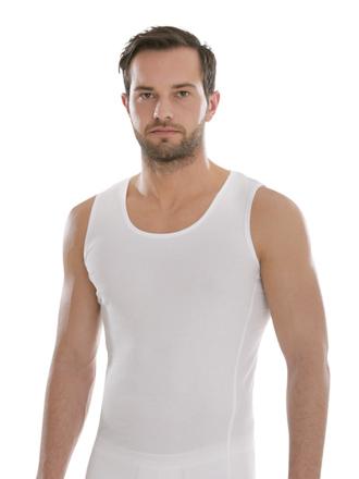 Comazo Biowäsche, Shirt ohne Arm in weiss - Vorderansicht