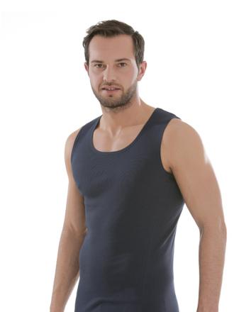 Comazo Biowäsche, Shirt ohne Arm in navy - Vorderansicht