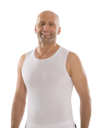 comazo|black Unterwäsche, Shirt ohne Arm in weiss - Vorderansicht