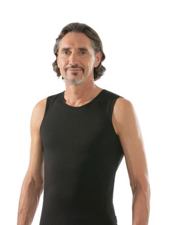 comazo|black Unterwäsche, Shirt ohne Arm in schwarz - Vorderansicht