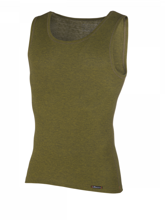 Comazo Funktionswäsche, Shirt ohne Arm für Herren in oliv - Vorderansicht